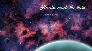 universe and Genesis 1:16