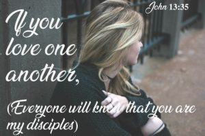 John 13:35 love one another